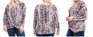 Fever Plus Size Printed Knot-Hem Top