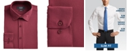 Jones New York Men's Slim-Fit Performance Stretch Cooling Tech Burgundy Solid Dress Shirt