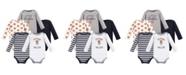 Hudson Baby Baby Boy Long Sleeve Bodysuits, 5 Pack