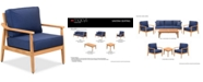 Furniture Savona Teak Outdoor Club Chair with Sunbrella® Cushions