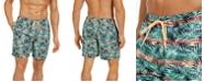 Club Room Men's Leaf Print Swim Trunks, Created for Macy's