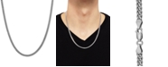 """Macy's Cuban Link 22"""" Chain Necklace in Sterling Silver"""