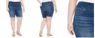 Style & Co Plus Size Ella Denim Cuffed Shorts, Created for Macy's
