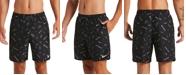 "Nike Men's Logofetti Lap Water-Repellent Logo-Print 7"" Swim Trunks"