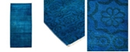 """Timeless Rug Designs CLOSEOUT! One of a Kind OOAK1761 Sapphire 2'7"""" x 5'8"""" Runner Rug"""