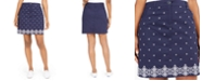 Karen Scott Petite Caraway Stars Embroidered Skort, Created For Macy's