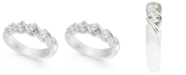 Macy's Diamond Twist Band (1 ct. t.w.) in 14k White Gold