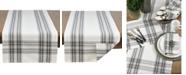 Saro Lifestyle Cotton Plaid Design Table Runner