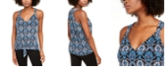 INC International Concepts INC Printed Tie-Front Top, Created For Macy's
