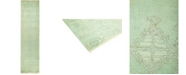 """Timeless Rug Designs CLOSEOUT! One of a Kind OOAK493 Lime 3'1"""" x 12'4"""" Runner Rug"""