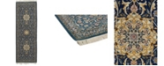 """Timeless Rug Designs CLOSEOUT! One of a Kind OOAK565 Blue 3' x 8'9"""" Runner Rug"""