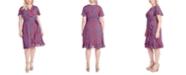Jessica Simpson Trendy Plus Size Ellie Printed Faux-Wrap Dress