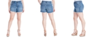 Jessica Simpson Trendy Plus Size Infinite High-Waist Denim Shorts