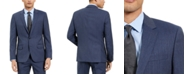 HUGO Hugo Boss Men's Slim-Fit Blue Check Suit Jacket, Created For Macy's