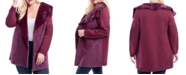 Fever Plus Size Mixed-Media Faux-Fur Lined Coat