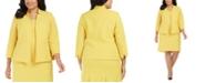 Kasper Plus Size Stand-Collar Blazer