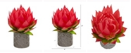 Nearly Natural 12in. Musella Artificial Arrangement in Designer Vase