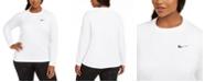 Nike Plus Size Solid Essential Long-Sleeve Hydro Rash Guard