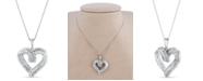 Macy's Diamond 1/2 ct. t.w. Pendant in Sterling Silver