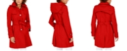 Via Spiga Belted Hooded Water-Resistant Trench Coat