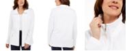 Karen Scott Wing Collar Zip-Front Jacket, In Regular and Petite, Created for Macy's