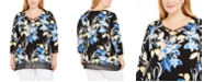 JM Collection Plus Size Embellished Printed Tunic, Created for Macy's