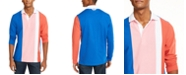 Club Room Men's Vertical Stripe Long Sleeve Rugby Shirt, Created for Macy's