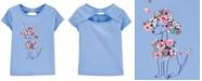 Carter's Toddler Girls Cotton Bow-Back Poodle T-Shirt