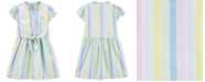 Carter's Toddler Girls Cotton Striped Bow-Front Shirtdress