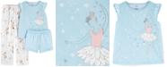 Carter's Little & Big Girls 3-Pc. Ballerina Pajamas Set