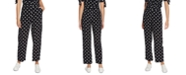 1.STATE Polka-Dot Wide-Leg Pants