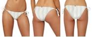O'Neill Juniors' Bridget Stripe Side-Tie Cheeky Bikini Bottoms