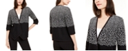 Alfani Petite Printed Asymmetric Open-Front Cardigan, Created for Macy's