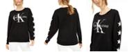 Calvin Klein Jeans Distressed Logo French Terry Sweatshirt