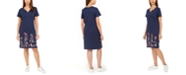 Karen Scott Plus Size Embroidered Shirt Dress, Created for Macy's