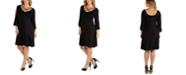 24seven Comfort Apparel Plus Size Knee Length Cold Shoulder Dress