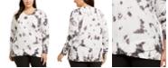 Ideology Plus Size Tie-Dye Tulip-Hem Top, Created for Macy's
