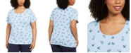 Karen Scott Plus Size Butterfly-Print T-Shirt, Created for Macy's