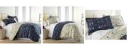 Southshore Fine Linens Boho Bloom Comforter and Sham Set, King