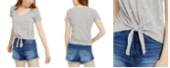 Self Esteem Juniors' Tie-Front Floral-Printed T-Shirt