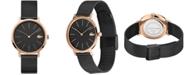 Lacoste Women's Moon Black Stainless Steel Mesh Bracelet Watch 35mm