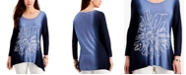 JM Collection Sequin Ombre Asymmetrical-Hem Top, Created for Macy's