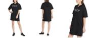 DKNY Sport Cotton Logo Hoodie Dress