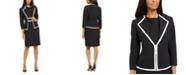 Le Suit Petite Contrast-Trim Dress Suit