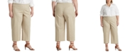 Lauren Ralph Lauren Plus-Size Cotton Wide-Leg Pants