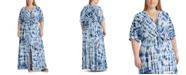 Lauren Ralph Lauren Plus Size Linen Maxidress
