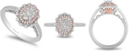 Enchanted Disney Fine Jewelry Enchanted Disney Diamond Ariel Engagement Ring (1/2 ct. t.w.) in 14k White & Rose Gold