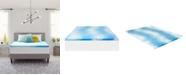 """Comfort Revolution 2"""" Gel-Infused Memory Foam Mattress Topper, Twin"""