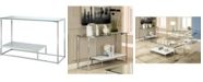 Furniture Nadia Glass Top Console Table