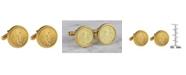 American Coin Treasures St Gaudens Design Gold Layered Replica American Eagle Coin Cufflinks